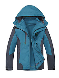 Deshengren Winter Men's Outdoor Breathable WindproofWaterproof Three-in-one Ski Jacket