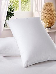 100% Cotton White Duck Down Feather Bedding Pillow