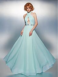 Prom/Formal Evening Dress A-line High Neck Floor-length Chiffon