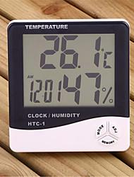 "3.9"" LCD Digital Temperature Humidity Meter with Alarm Clock (1 x AAA)"
