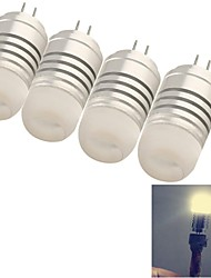 4W G4 LED Mais-Birnen 8 SMD 3014 120 lm Warmes Weiß Dekorativ DC 12 / AC 12 V 4 Stück