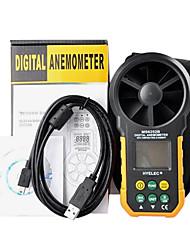anemômetro digital / volume de ar multifunções ms6252b hyelec / temperatur / umidade