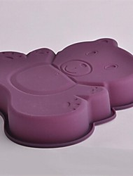 Bear Shape Cake Chocolate Molds,Silicone 25.5×24×4 CM(10.0×9.5×1.6 INCH)