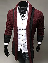 SPORTSTREET Men's Fashion Contrast Color Cardigan