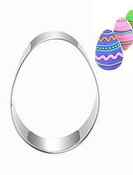 Easter Egg Shape Cookie Cutters, Fuirt Cut Moulds, Stainless Steel