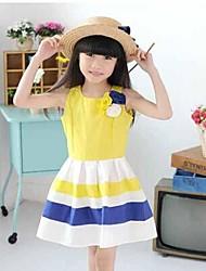 tanque de rayas flor niños de la muchacha de los sundress cumpleaños partido niños elegantes ropas vestidos de princesa