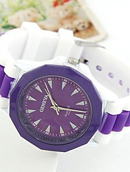 European and American Fashion Trend Wild Candy Colored Casual Silicone Watch