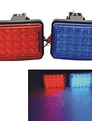 carking ™ voiture 12v véhicule grille pont décoratif conduit Attention Strobe lumière clignotante rouge / bleu