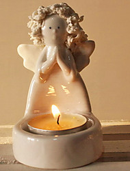White Porcelain Wishing Angel Candle Holder