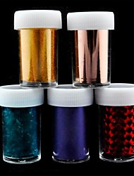 5PCS Laser Foil Nail Decorations Starry Nail Stickers (150x4x0.1cm)