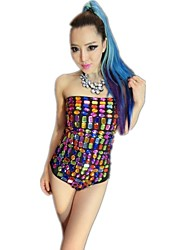 Nightclub Dancewear Women's Color Stone Bra Jazz Dance Clothes