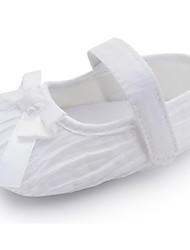 Zapatos de bebé - Planos - Boda / Vestido / Casual / Fiesta y Noche - Tejido - Rosa / Blanco