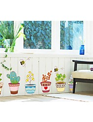 Wall Stickers Wall Decals, Style Color Pot PVC Wall Stickers