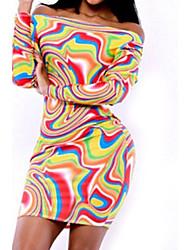 schillernde Hawaii Lava Print Kleid Frauen