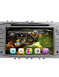 rungrace android 7 polegadas tela TFT de 2 din no painel do carro dvd player para ford focus2012-2014 com bt, gps, rds, ipod, wi-fi