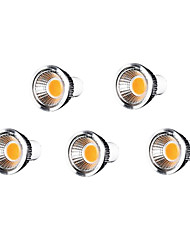 5 PC GU10 7 W 7 cob 500-550 lm caliente MR16 blanco luces del punto regulable 220-240 V ac