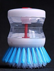 liquide brosse de nettoyage automatique du brasier, plastique 8 × 8,5 × 2 cm (3,2 × 3,3 × 0,8 pouces) de couleur aléatoire
