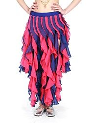 Belly Dance Skirts Women's Training Chiffon Tassel(s) Natural