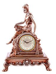"""20,8 """"h laiton antique mur polyrésine attente muette l'horloge de Vienne"""