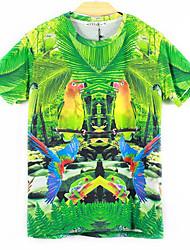 moda 3d impressões dos homens McLean camisetas de manga curta
