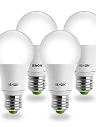 4 stuks E26/E27 COB 400-450 LM Warm wit G60 LED-bollampen AC 100-240 V