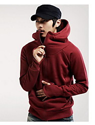 Playgame Men's Casual Solid Color Hoodie