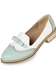 Women's Shoes Round Toe Low Heel Loafers with Split Joint Shoes More Colors available