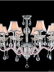 couleur rose lustres en cristal des lustres modèles de mode e14 * 8