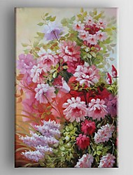 Hand-Painted Floral/Botanical One Panel Canvas Oil Painting For Home Decoration