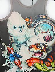 3d padrão de impressão colete masculina de damasco