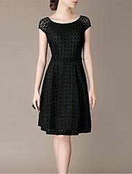 Women's Green Dress , Bodycon Short Sleeve