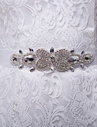 Satin/Satin/ Tulle Wedding/Party/Evening/Daily Wear Sash - Rhinestone Women's Sashes