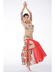 Belly Dance Stage Performance Egypt Luxuriant C-cup Outfits-Set of 3 (Top, Skirt and Armwears)