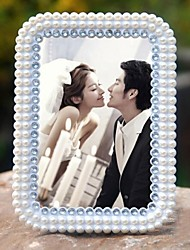 European  Style Pearls Wedding  Rectangle White Picture Frames