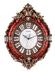 """30 """"h cuivre polyrésine antique placage rouge mute horloge murale"""