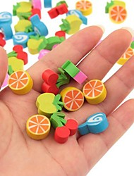 Various Style Cute Fruits Pattern Student Erasers 100pcs Pack