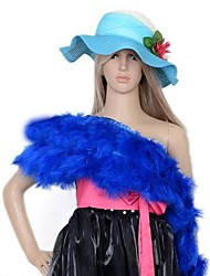 Colourful Turkey Feather Boa For Carnival Accessories