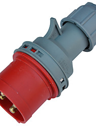TOWE IPS-P416 Waterproof Industrial Connector Male Industrial Plug 380V-415V 16A 3P+E IP44 6H 1-2.5mm²