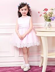 Performance Dancewears Kid's Round Collar Sweet Mesh Dress(More Colors) Kids Dance Costumes