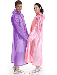 Unisex Hiking Raincoat Portable Rain-Proof Transparent N/A Raincoat/Poncho Woman's Jacket for Camping / Hiking Fishing Spring Summer