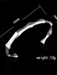 Fashion Sterling Silver Plated Bangle Women's Bracelet