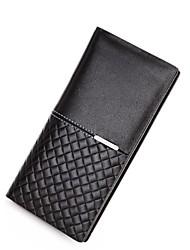 Топ сплит кожаный бумажник экспозиции plian и плетеные линии шаблон bostanten мужская