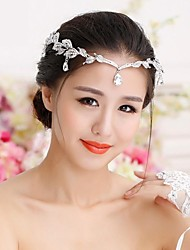 Women's Rhinestone / Alloy Headpiece-Wedding Tiaras / Hats / Head Chain Round