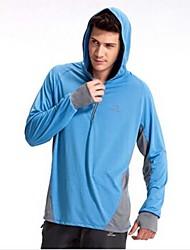100% algodón multicolor de secado rápido camiseta de los hombres respirables de protección solar para la pesca