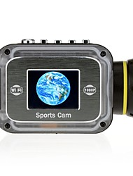 HD1080P W1 10m Waterproof 12MP WIFI Sports Camera with 1.5 LTPS LCD 1000mAh Lithium Battery