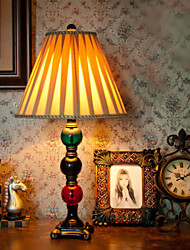 American Country Style Table Lamp, One Light, Color Glass, Resin and Fabric (CTLT8098)