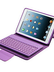 For Case Cover with Stand with Keyboard Flip Full Body Case Solid Color Hard PU Leather for iPad Mini 3/2/1