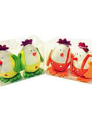 padrão de frango diy easter casca de ovo pintado, 2pcs plástico / saco