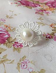 Handmade White Lace Flower Classic Lolita Ring