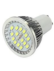 GU10 высокая яркость 6 Вт 420lm 15x5730 SMD LED прожектор потолочный светильник белый теплый белый домашний свет AC 85v-265v алюминия